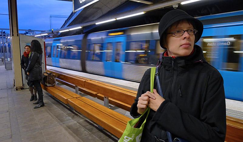 Vid station Gamla Stan